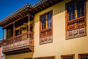 Historische Balkone La Orotava Teneriffa Kanaren
